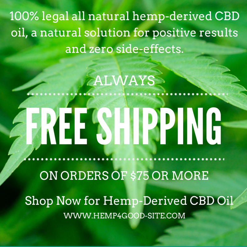 Free Shipping on Hemp CBD Oil orders over $75