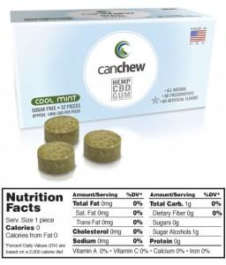 CanChew CBD Gum, 10mg CBD
