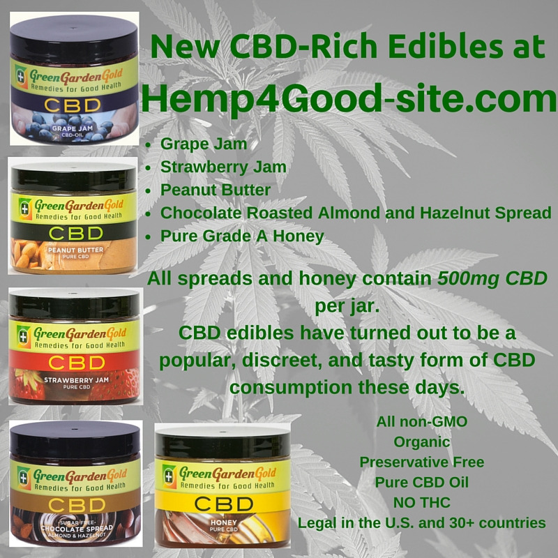 New CBD Edibles - Hemp4Good-site.com