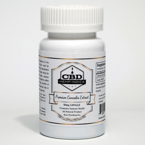 CBD Hemp Indica 50mg powder caps